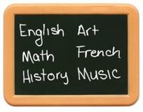 ребенок chalkboard классифицирует миниый s Стоковое фото RF