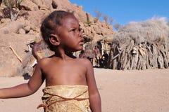 Ребенок Damara в ее деревне Стоковое Изображение