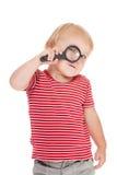 ребенок eye ее маленький увеличитель Стоковое фото RF