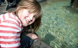 Ребенок stroget Копенгагена Дании фонтана стоковая фотография rf
