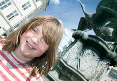 Ребенок stroget Копенгагена Дании фонтана стоковая фотография