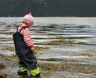 ребенок wading Стоковые Фото