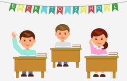 Ребеята школьного возраста в классе на уроке Стоковая Фотография