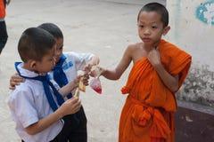Ребеята школьного возраста в Лаосе Стоковое Изображение