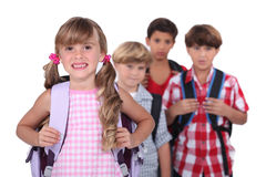 Ребеята школьного возраста Стоковое фото RF