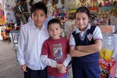 Ребеята школьного возраста, San Miguel, Мексика Стоковые Изображения