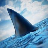 Ребро акулы на воде иллюстрация 3d иллюстрация штока
