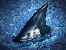 Ребро акулы на воде иллюстрация 3d иллюстрация вектора