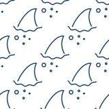 Ребро акулы в картине волн воды безшовной бесплатная иллюстрация