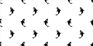 Ребро дельфина картины акулы безшовное изолировало обои предпосылки лета пляжа острова океанской волны моря кита тропические бесплатная иллюстрация