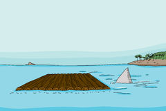 Ребро и сплоток акулы иллюстрация вектора