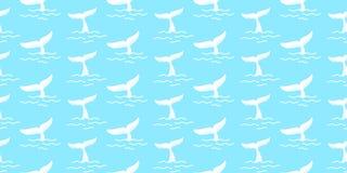 Ребро картины кабеля акулы безшовное изолировало синь иллюстрации предпосылки обоев дельфина кита иллюстрация штока