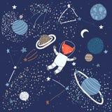 Ребяческая картина с Fox в космосе бесплатная иллюстрация