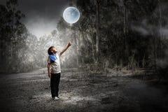 Ребяческие сладостные мечты Мультимедиа стоковое изображение