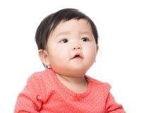 Ребёнок Азии смотря вверх Стоковые Изображения