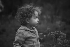 Ребёнок внешний в сельской местности Стоковые Изображения RF