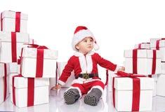 Ребёнок в costume Santa Claus Стоковое Изображение RF