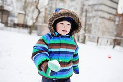 Ребёнок в striped прозодеждах Стоковая Фотография