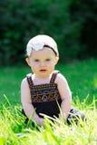 Ребёнок 6 месяцев старый Outdoors Стоковое Фото