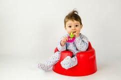 Ребёнок прорезывания зубов Стоковое Изображение RF