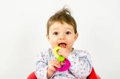 Ребёнок прорезывания зубов Стоковое Изображение