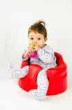 Ребёнок прорезывания зубов Стоковое фото RF