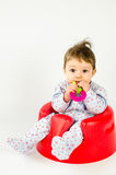 Ребёнок прорезывания зубов Стоковая Фотография RF