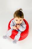 Ребёнок прорезывания зубов Стоковые Фото