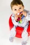 Ребёнок прорезывания зубов Стоковая Фотография