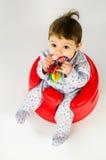 Ребёнок прорезывания зубов Стоковые Изображения