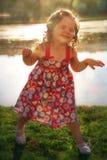Ребёнок плещется Стоковое фото RF