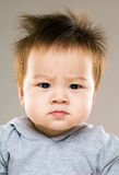 ребёнок серьезный стоковое фото