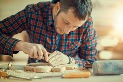 древесина белизны табака трубы гравировки предпосылки Стоковые Изображения RF
