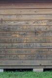 древесина выдержанная планками Стоковые Изображения