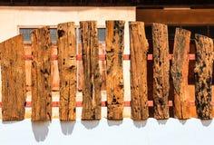древесина загородки старая Стоковая Фотография