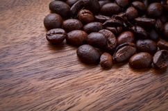 древесина кофе фасолей предпосылки Стоковые Фотографии RF
