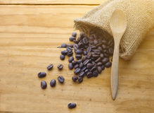 древесина кофе фасолей предпосылки Стоковое Изображение RF