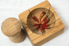 древесина красного цвета горячего перца chili предпосылки Стоковая Фотография RF