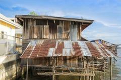 древесина дома старая Стоковое Изображение