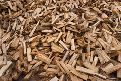 древесина пожара разделенная кучей Стоковая Фотография