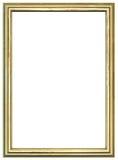 древесина рамки золотистая Стоковые Фотографии RF
