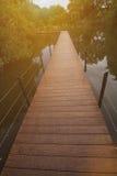 древесина сада моста Стоковое Изображение RF