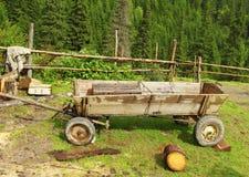 древесина сухих рук тележки людская сделанная деревянная Стоковое Изображение
