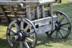 древесина сухих рук тележки людская сделанная деревянная Стоковое Фото