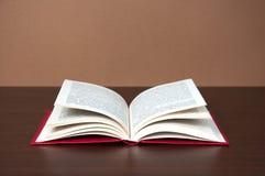 древесина таблицы книги открытая Стоковое Изображение RF