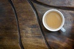 древесина таблицы кофейной чашки Стоковые Фото