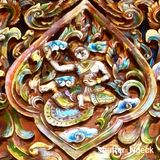 древесина Таиланда рассказа картины жизни carvings Стоковые Фото