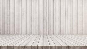 древесина текстуры теней предпосылки коричневая белые деревянные стена и пол Белая деревянная предпосылка текстуры Стоковое Изображение