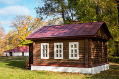 древесины кабины деревенские Стоковые Фото