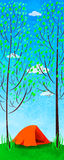 древесины шатра karelia северные России Стоковые Изображения
